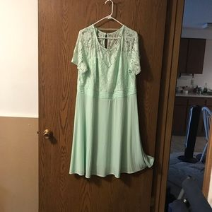 Mint green lacy dress